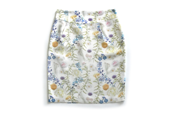 WOMAN FLORAL SKIRT